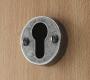 FINESSE PEWTER KEYHOLE LOCK ESCUTCHEON EURO ON DOOR