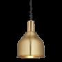 Industville Sleek Cone Pendant - Brass - Brass Holder - 7 Inch