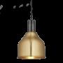 Industville Sleek Cone Pendant - Brass - Pewter Holder - 7 Inch