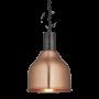Industville Sleek Cone Pendant - Copper - Pewter Holder - 7 Inch