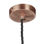 GLOBE COLLECTION COPPER PENDANT - CEILING ROSE