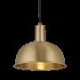 Industville Sleek Dome Pendant - Brass - Brass Holder - 8 Inch