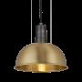 Industville Sleek Dome Pendant - Brass- Pewter Holder - 8 Inch