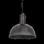 Industville Sleek Dome Pendant - Pewter - Pewter Holder - 8 Inch