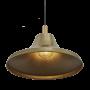 Industville Sleek Giant Bell Pendant - Brass