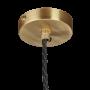 Industville Sleek Giant Bell Pendant - Pewter - Brass Holder - 20 Inch