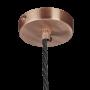 Industville Sleek Giant Bell Pendant - Pewter - Copper Holder - 20 Inch