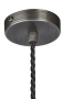 Industville Sleek Umbrella Pendant - Pewter Pendant Holder