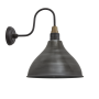 SWAN NECK CONE LIGHT LARGE PEWTER