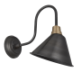 INDUSTVILLE SWAN NECK CONE LIGHT PEWTER ANGLE