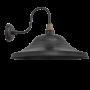 Industville Swan Neck Giant Hat Wall Light - Pewter - 21 Inch