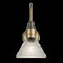 Industville Swan Neck Glass Funnel Light In Brass