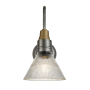Industville Swan Neck Glass Funnel Light In Pewter