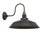 Industville Swan Neck Step Wall Light - Pewter - 16 Inch