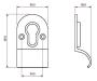 Stonebridge Cylinder Pull Euro Line Drawing