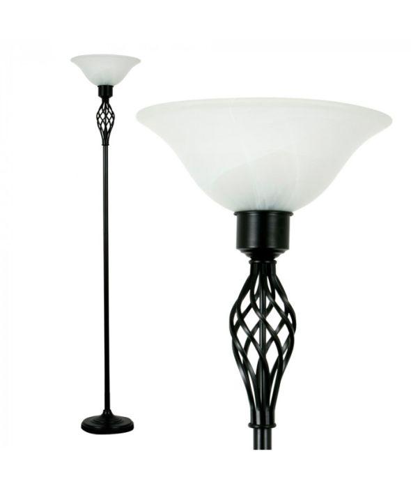 Minisun Uplighter Floor Lamp Shades At, Black Glass Lamp Shades