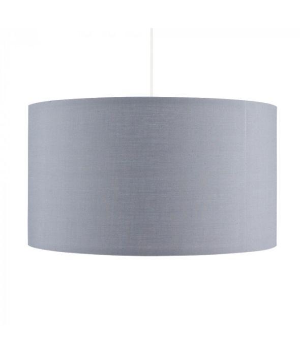 Minisun Rolla Pendant Light Drum Lamp, Large Drum Lamp Shade Grey