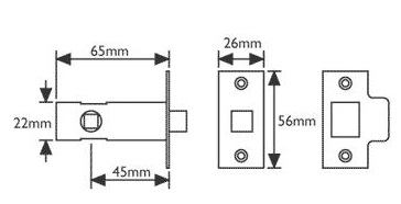 tubular latch diagram