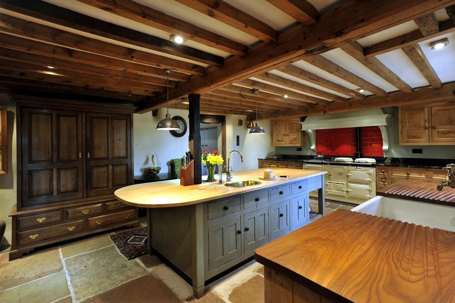 wooden cupboard knob on kitchen