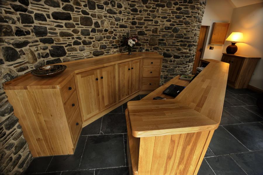 wooden cupboard knob in situ office