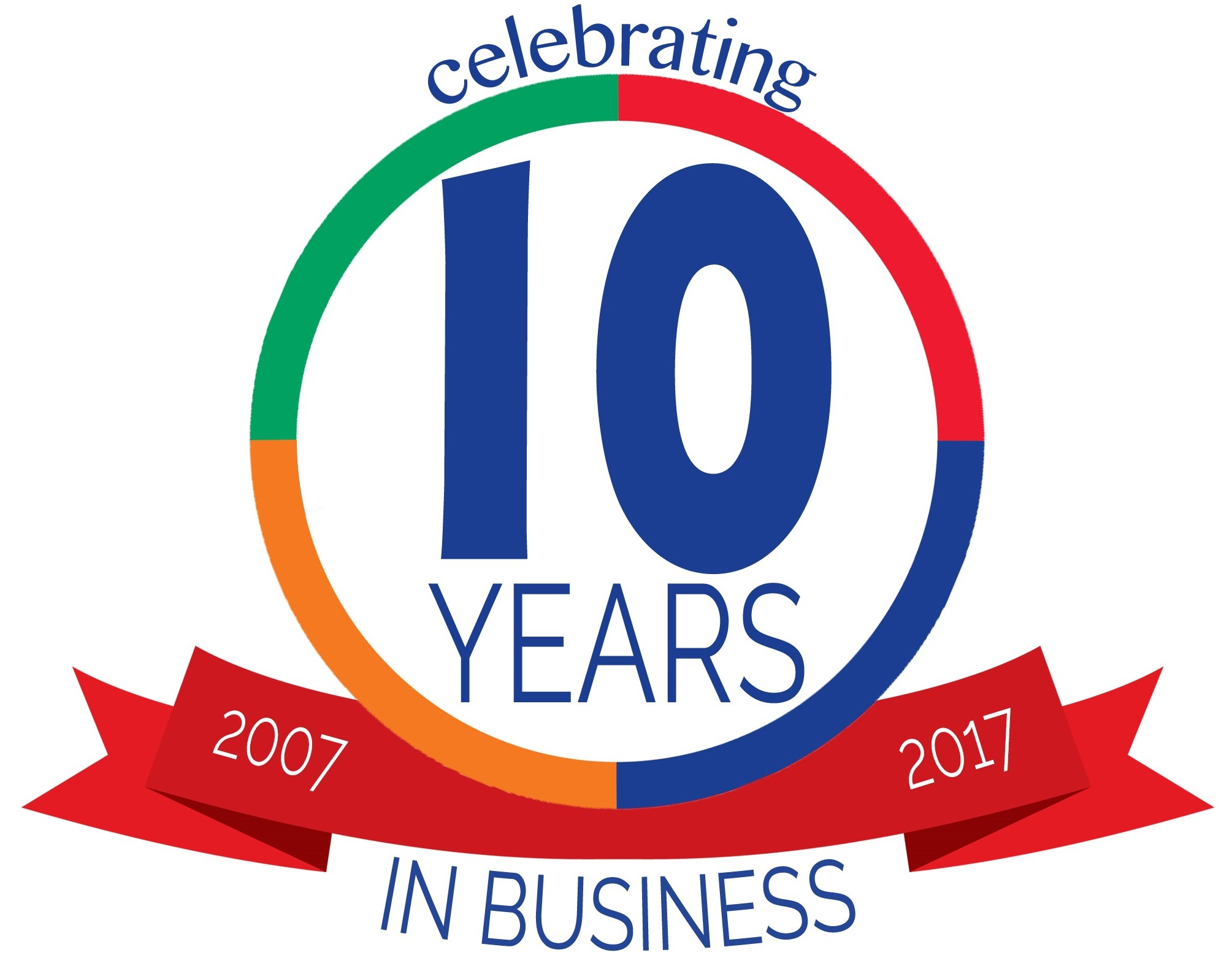 more handles 10 years in business logo