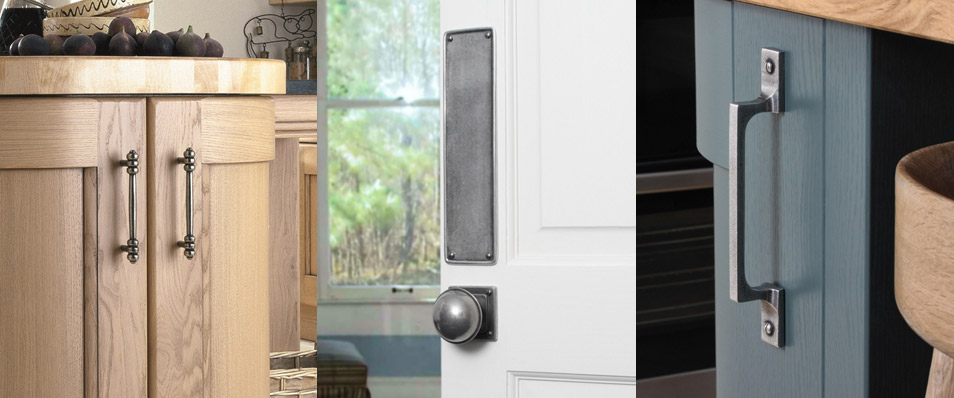 finesse pewter door handles