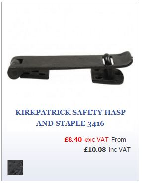 Black iron Safety Hasp and Staple