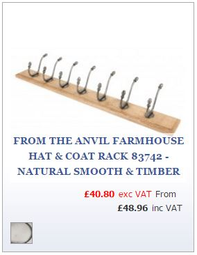 Timber rack with smooth finished hat and coat hooks