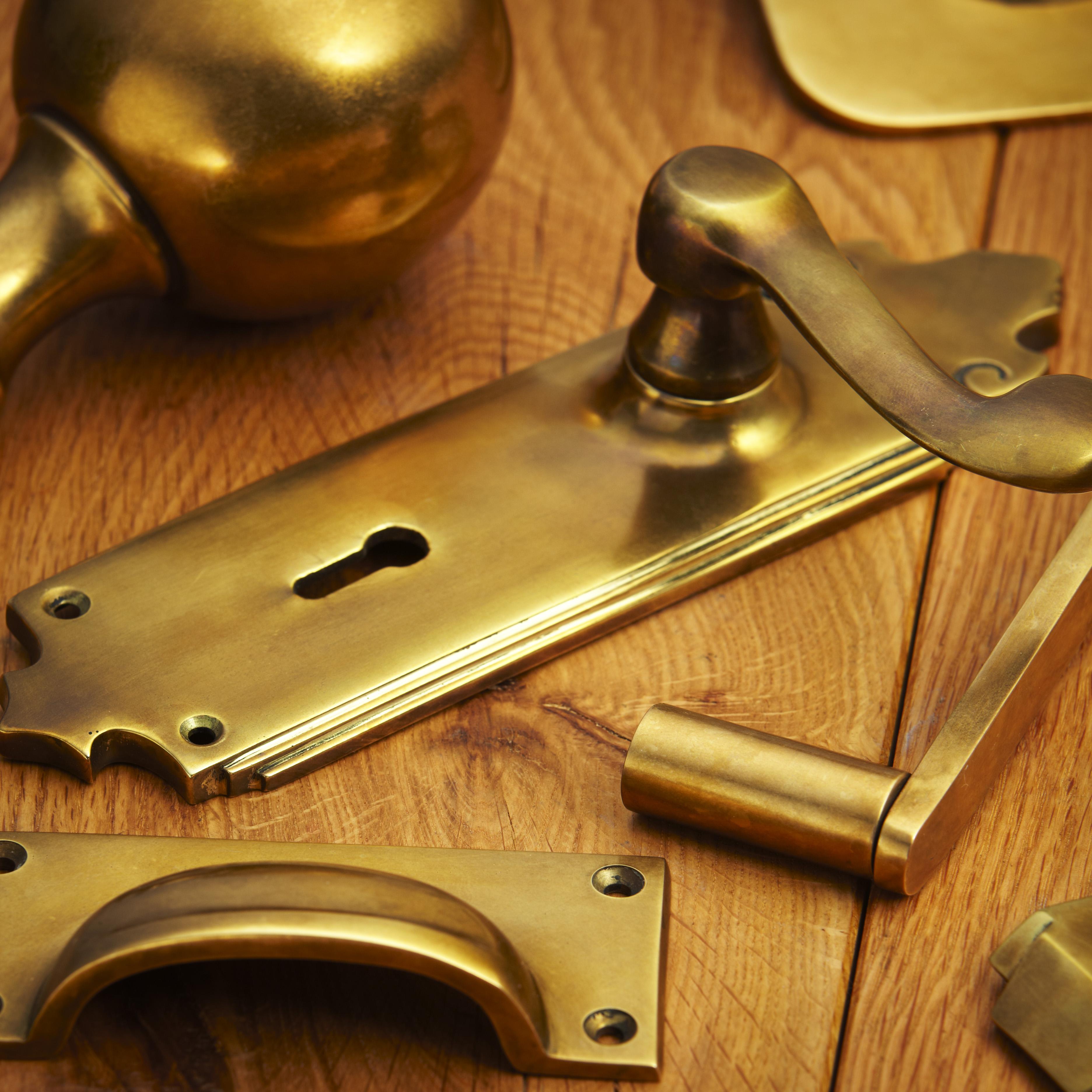 croft hardware aged brass finish