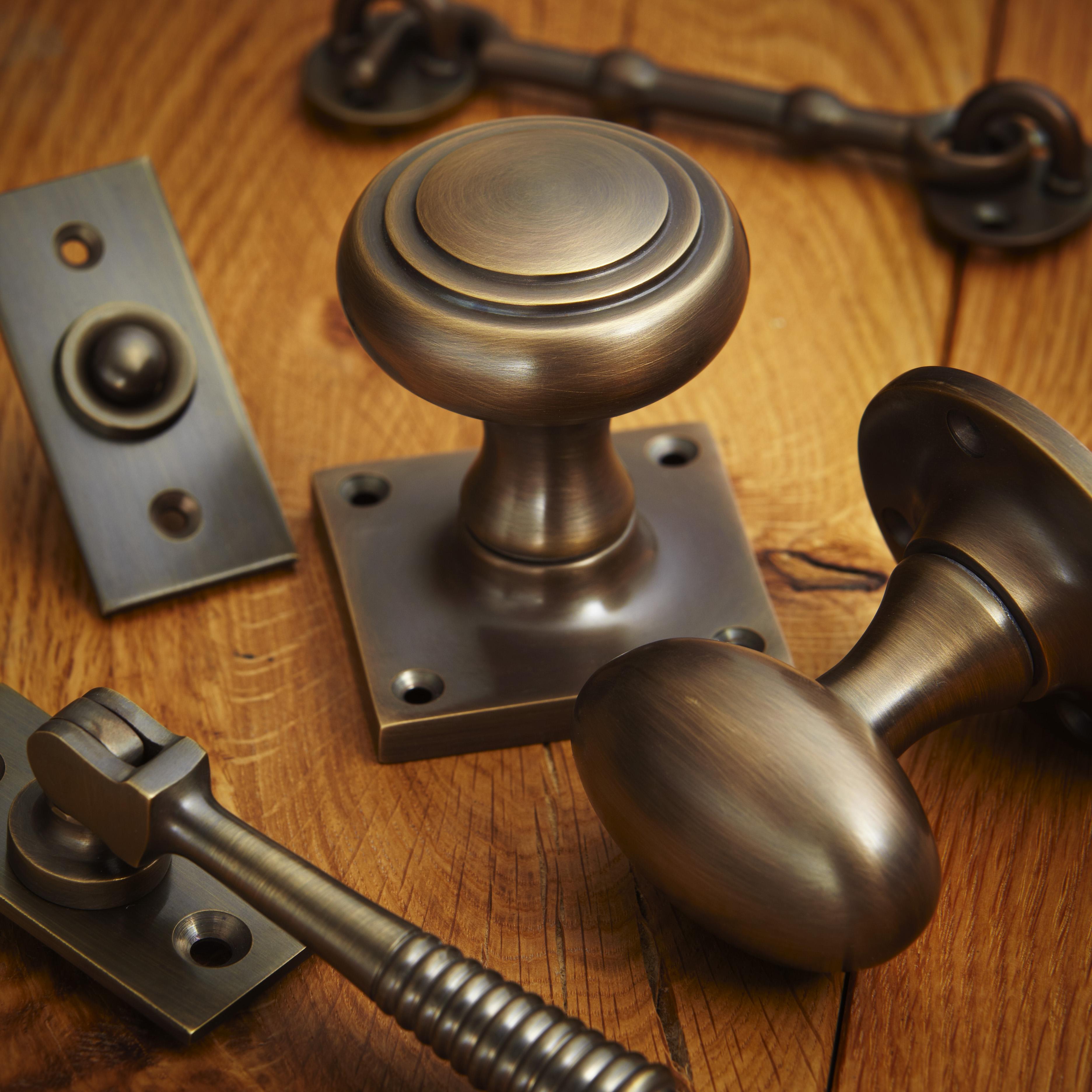 croft hardware antique brass finish