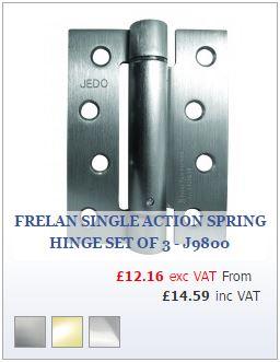 Frelan Single Action Spring Hinge Set of 3 - J9800