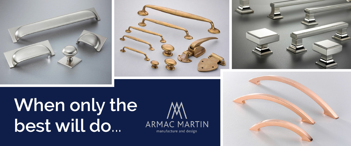 Luxury Cupboard Handles and Knobs by Armac Martin at More Handles