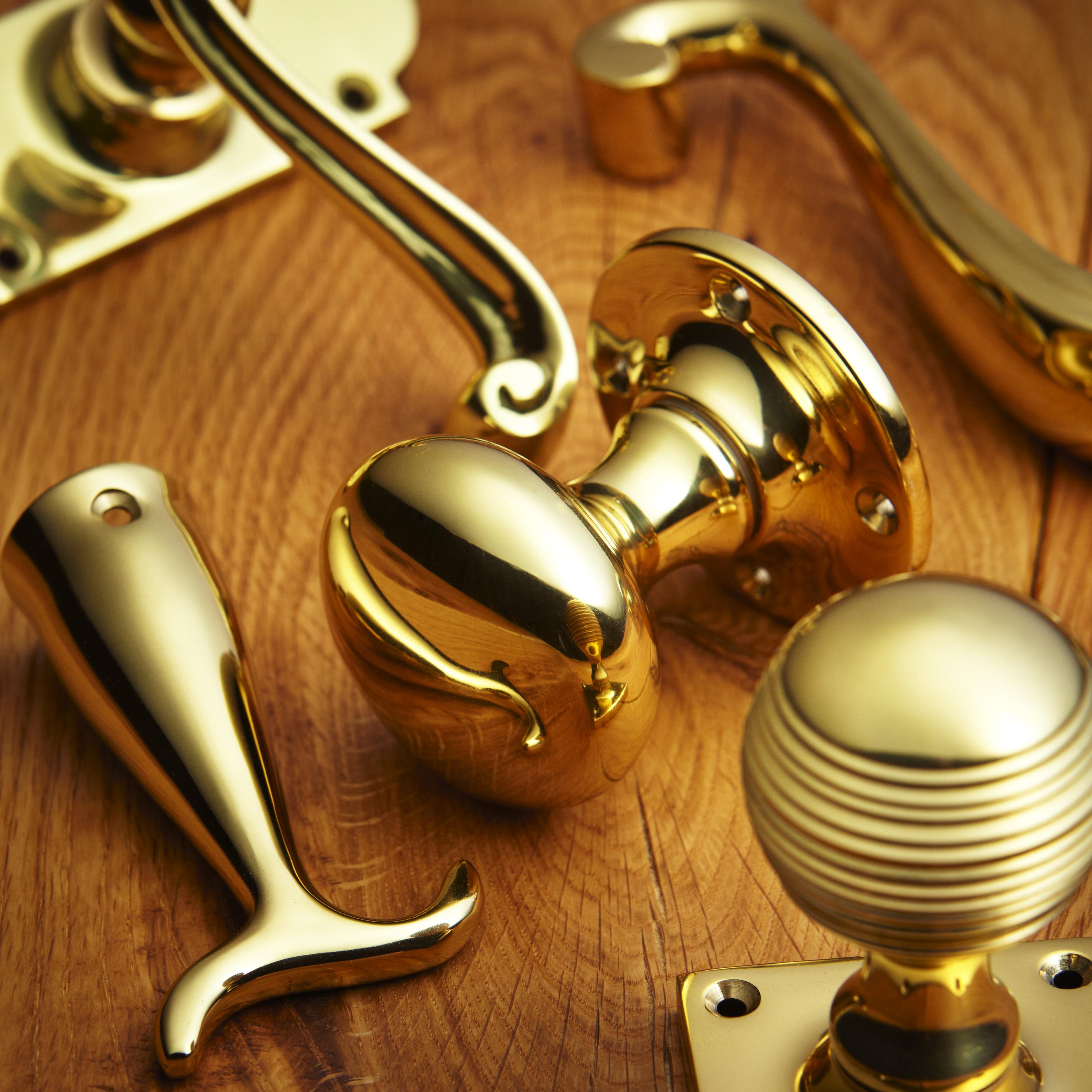 croft hardware polished brass finish