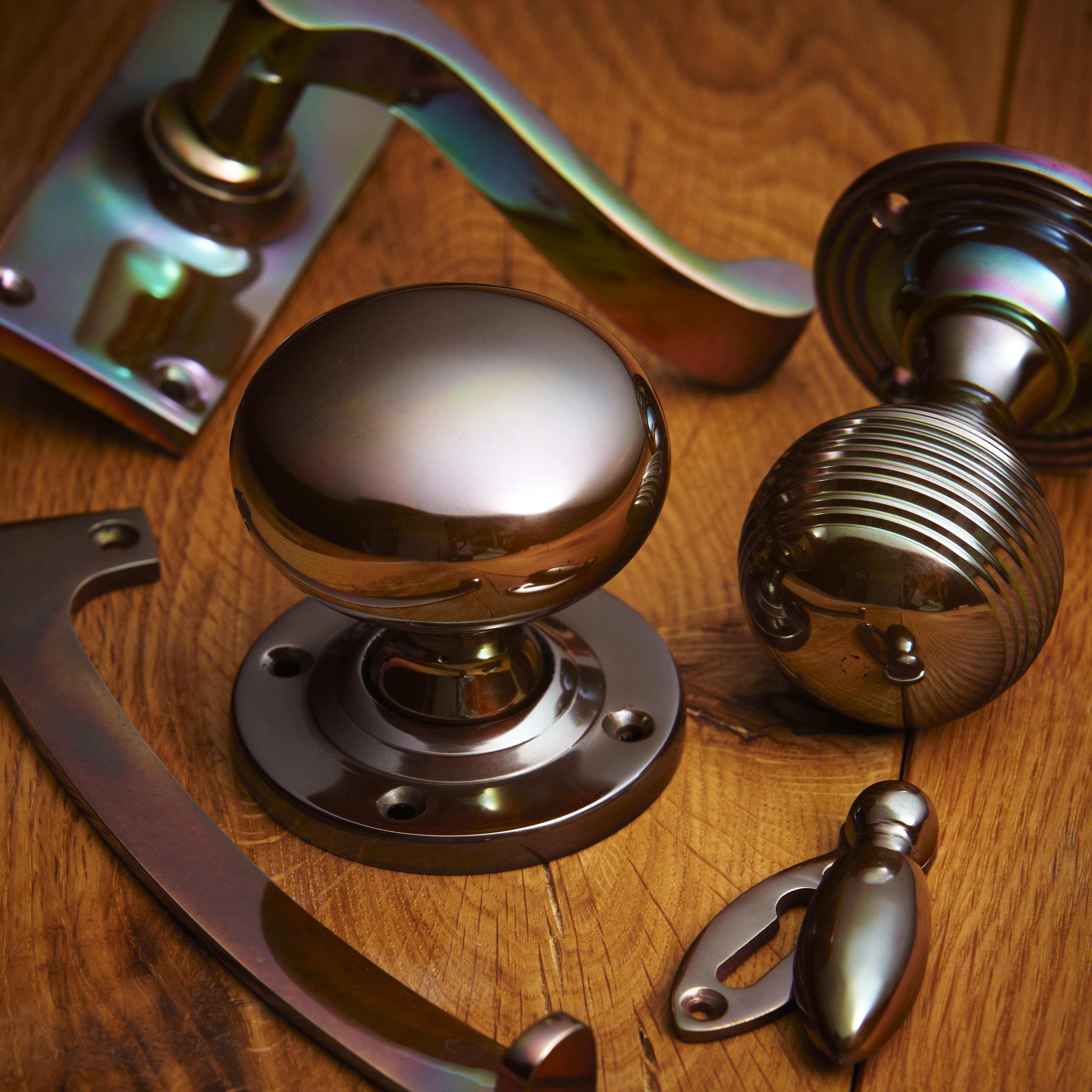 croft hardware real bronze metal antique