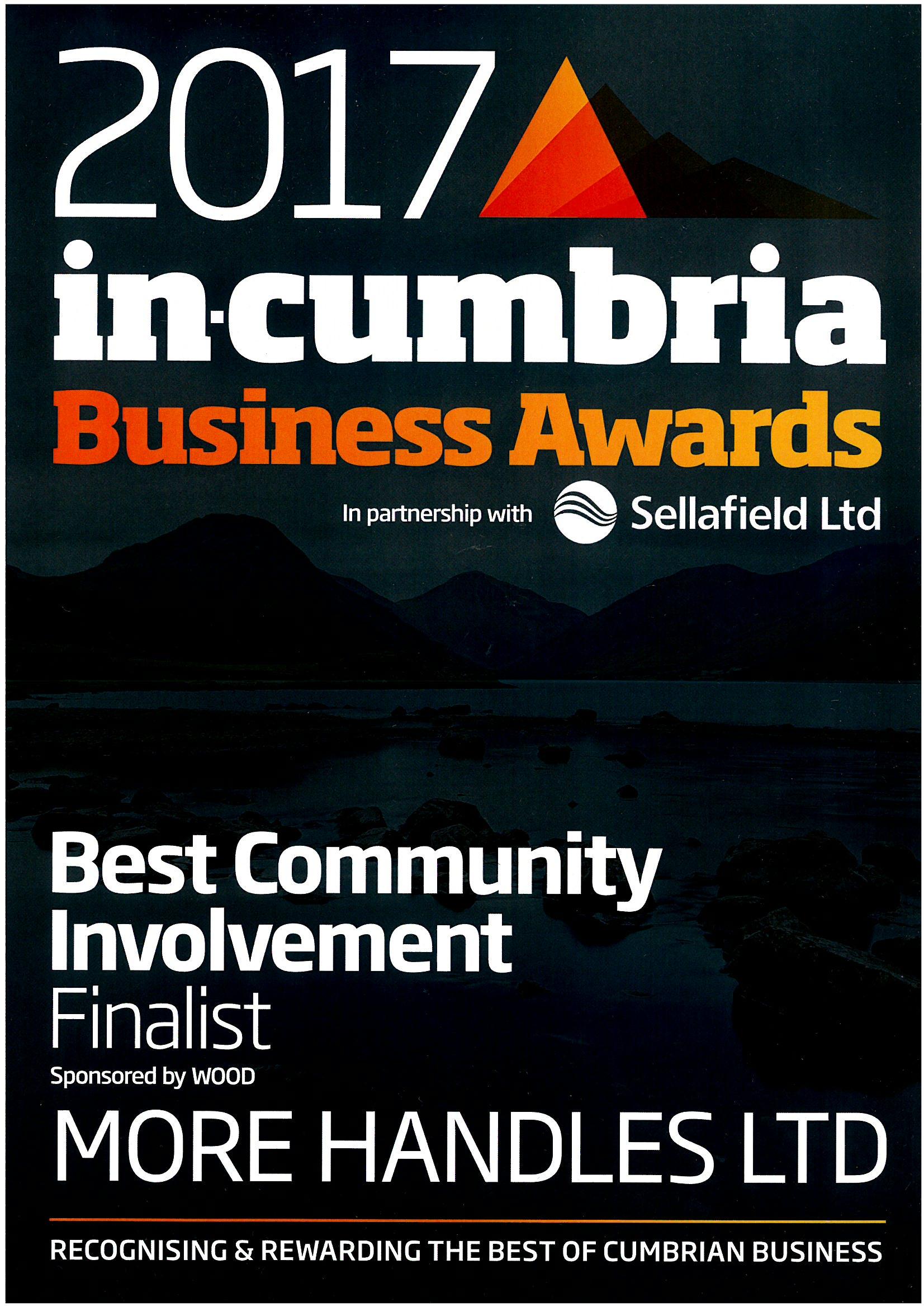 in cumbria best community involvement business award finalist
