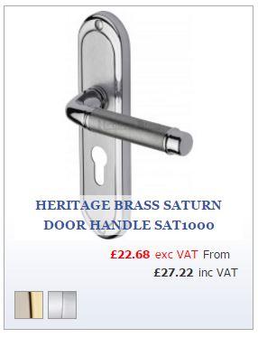 Polished and Satin Chrome Door Handle on Backplate