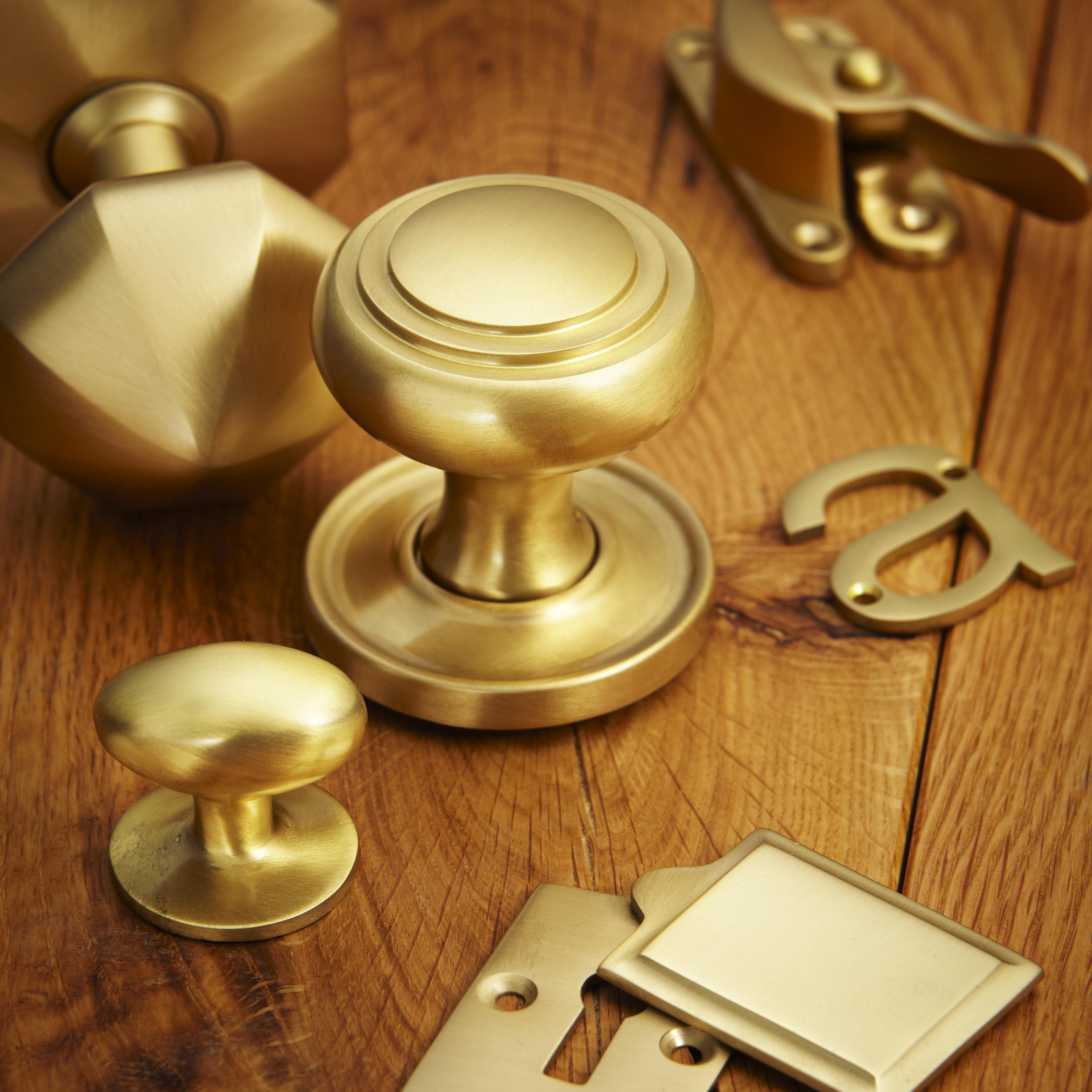 croft hardware satin brass