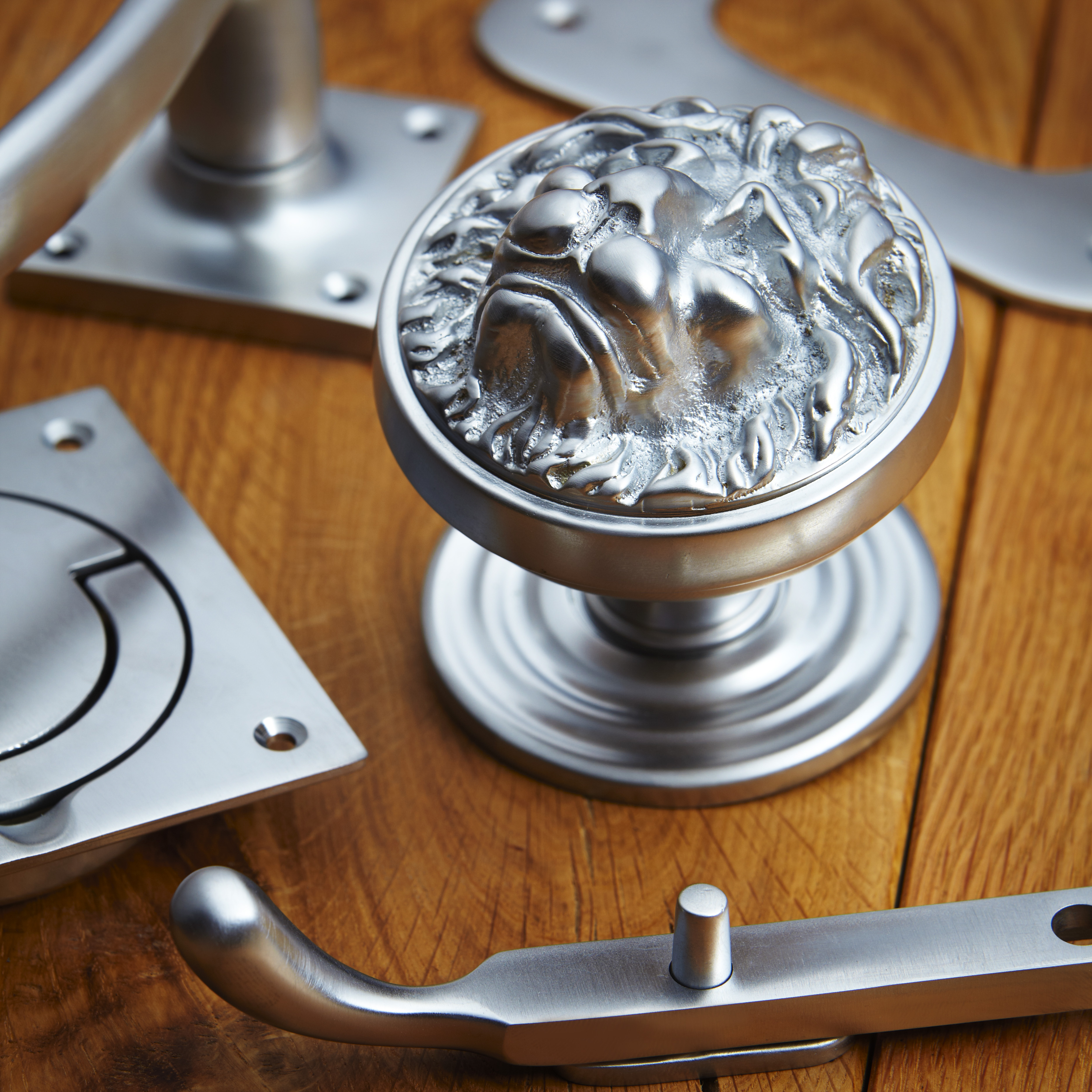 croft hardware satin chrome finish