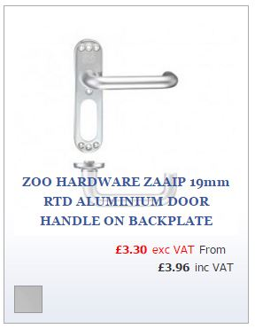 Aluminium return to door lever on backplate