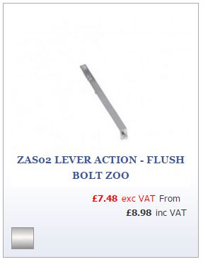 Satin Stainless Steel Flush Lever Action Bolt