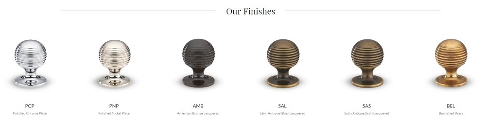 Armac Martin Cupboard Knobs in Nickel, Satin and Bronze Finishes