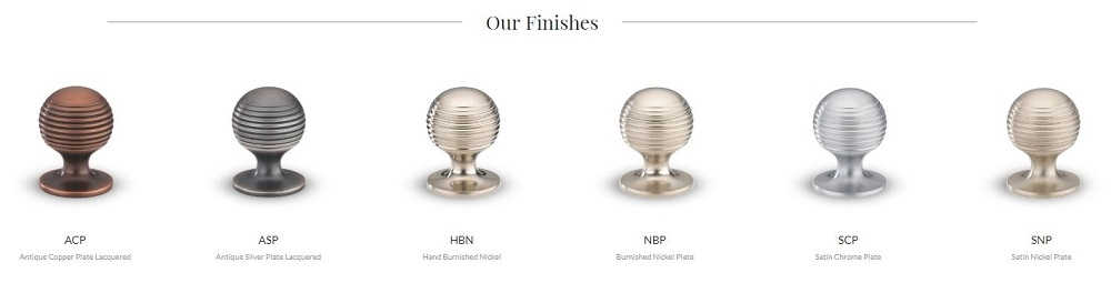 Armac Martin Cupboard Knobs in Nickel, Copper and Silver Finishes