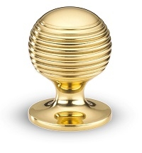 Armac Martin Polished Brass Unlacquered Cupboard Knob
