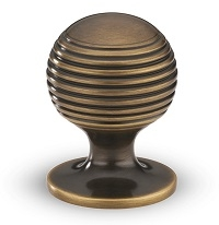 Armac Martin Satin Antique Gloss Lacquered Cupboard Knob
