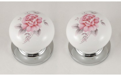 china door knob flowers