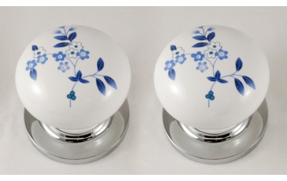 flower porcelain knob