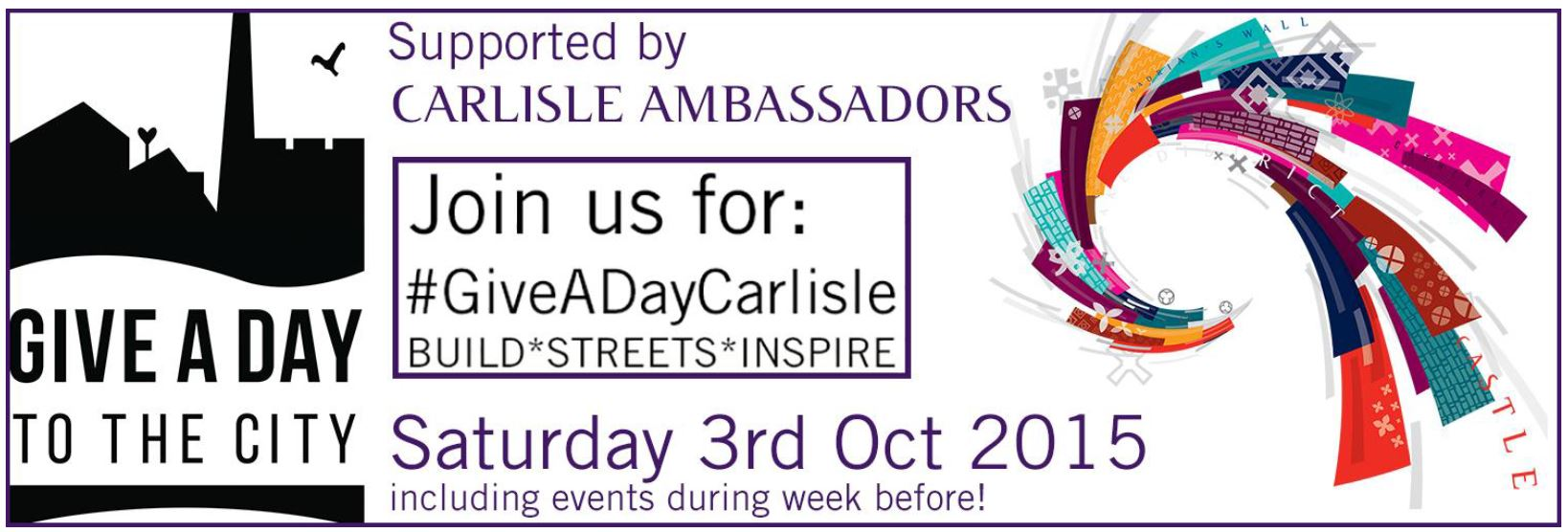 GIVE A DAY CARLISLE PROGRAMME