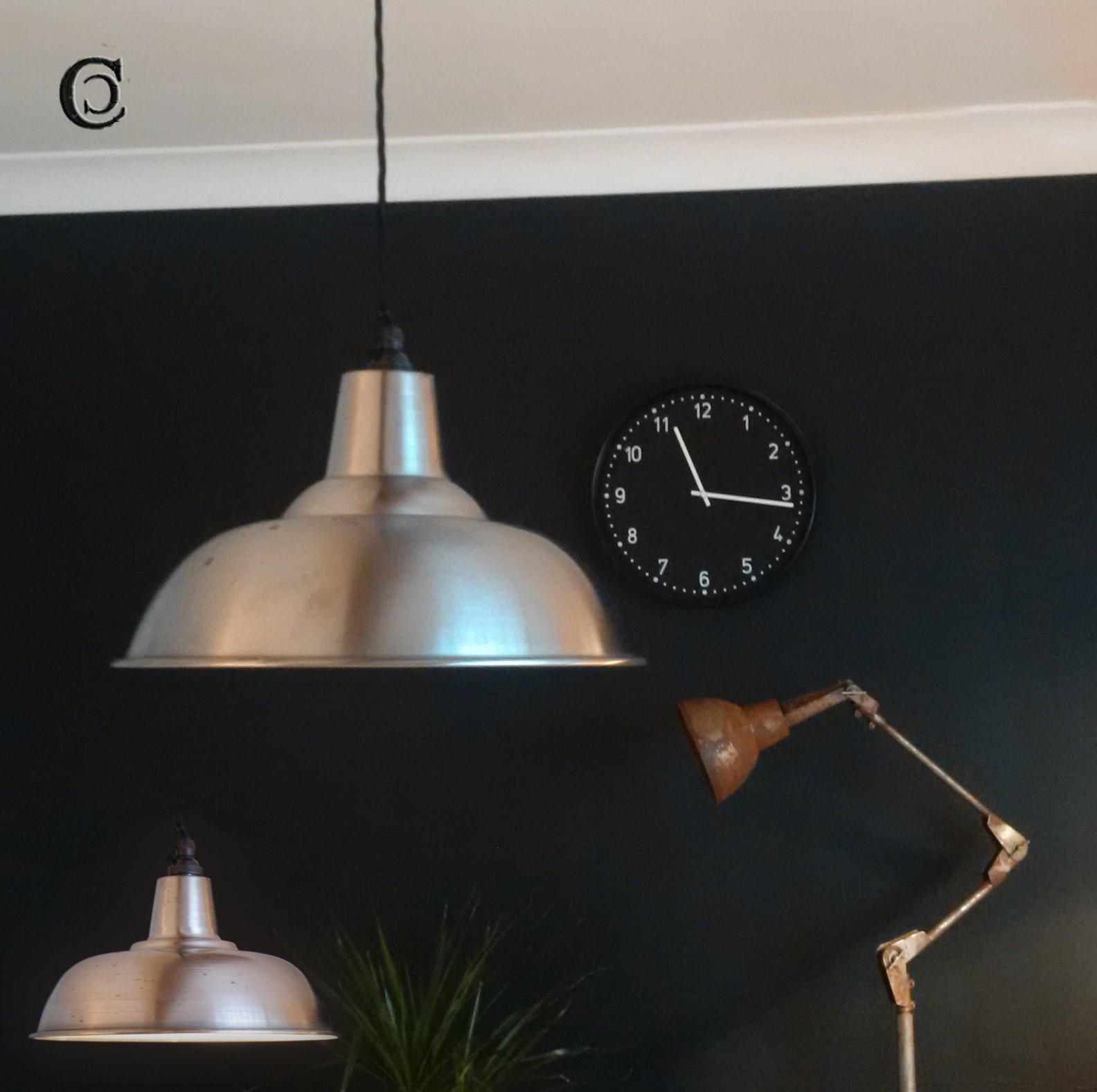 vintage factory lamps