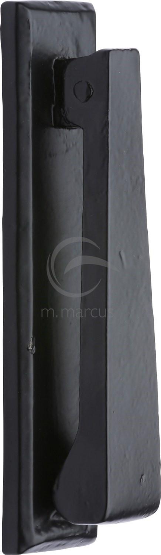 marcus smooth black iron door knocker