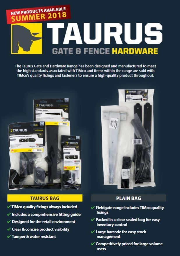 TIMco Taurus Gate and Fence Hardware 2018